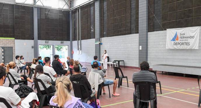 Capacitación al personal de los polideportivos sobre prevención contra el covid-19