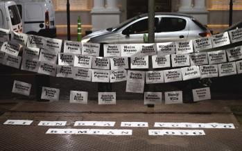 Cómo fue el encuentro en la Plaza Mitre por una reforma judicial feminista