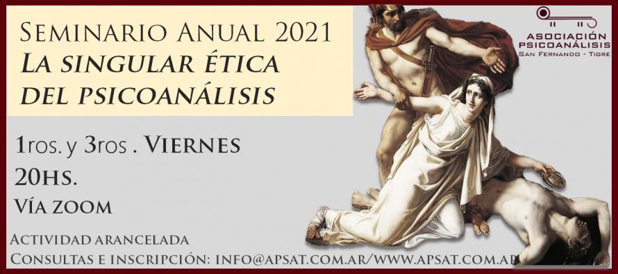 'La singular ética del psicoanálisis', nuevo encuentro de la APSaT