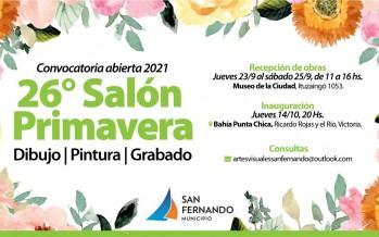 Abierta la convocatoria de artistas para participar de la 26° edición del Salón Primavera
