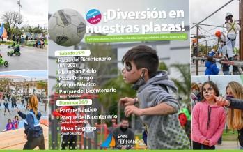 Finde: actividades recreativas y culturales en plazas y parques de nuestra ciudad