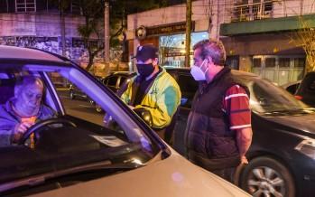 Operativo de control vehicular en Perón y Quintana