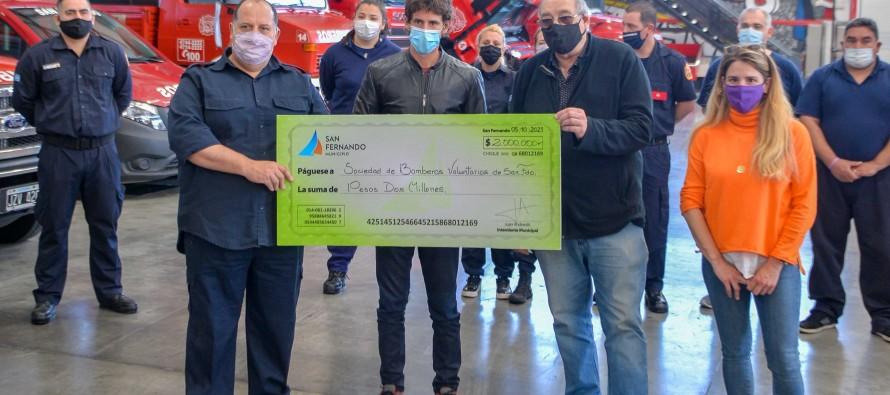 Subsidio a Bomberos para adquirir una lancha destinada a combatir incendios en el Delta