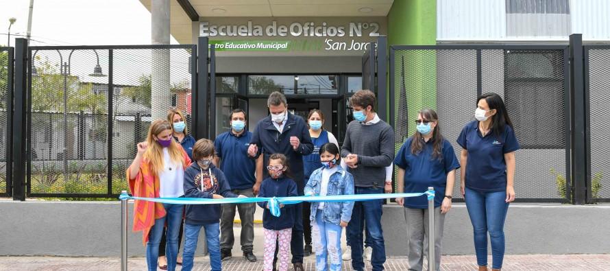 Andreotti y Massa inauguraron la Escuela de Oficios N°2 del barrio San Jorge